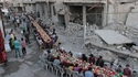 Convivialité dans une ville syrienne récemment libérée