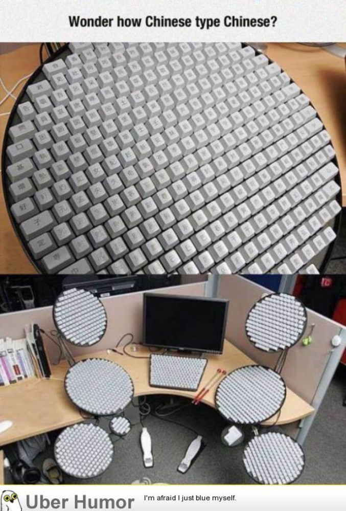 clavier ordinateur mandarin