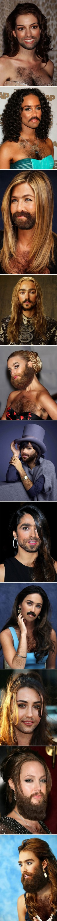 Célébrités Femmes à barbe