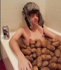 Un bon bain de patates