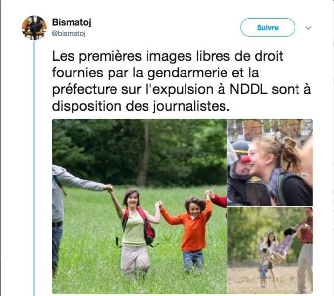 La police ne veut pas des journalistes et fournit directement les images aux chaînes de désinformation en continu.