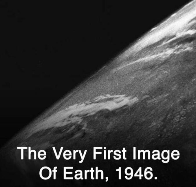 prise par une fusée V2 en 1946
