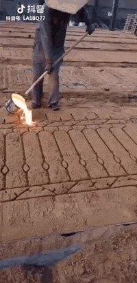 Du métal coulé