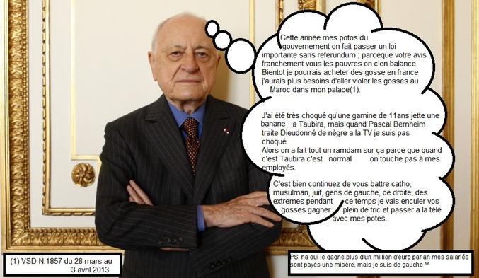 Pierre Bergé. Comme Mélenchon.