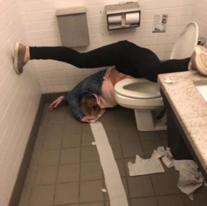 Un exercice que vous pouvez faire aux toilettes.