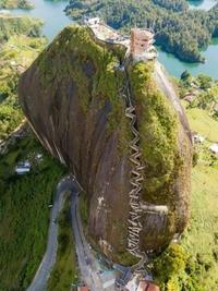Site touristique à Guatape, en Colombie