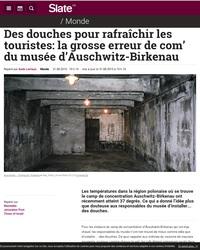 Il est maintenant possible de prendre une douche à Auschwitz