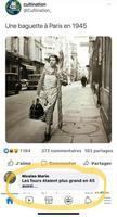 Une baguette parisienne en 1945