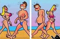 Les femme et les homme à la plage