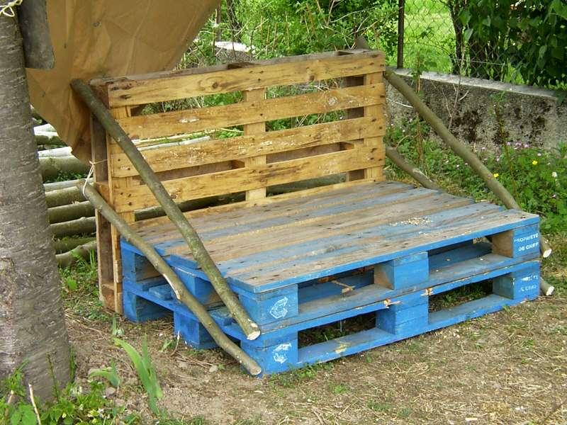 Canap de jardin Salon de jardin en palette mousse