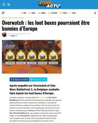 Overwatch : les loot boxes risquent d'être bannies d'Europe