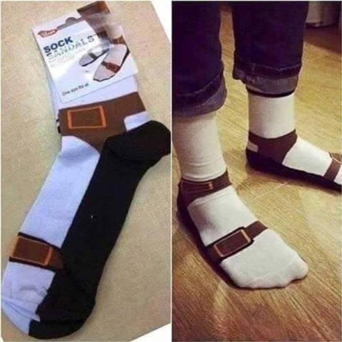 Plus besoin de mettre des sandales autour des chaussettes.