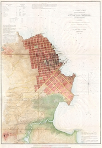 Un plan de San Francisco en 1853