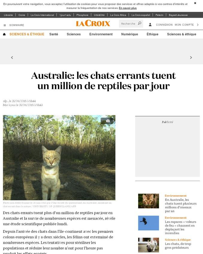 Autre lien. https://mobile.lemonde.fr/planete/article/2017/01/18/la-guerre-de-l-australie-contre-les-chats-sauvages_5064391_3244.html