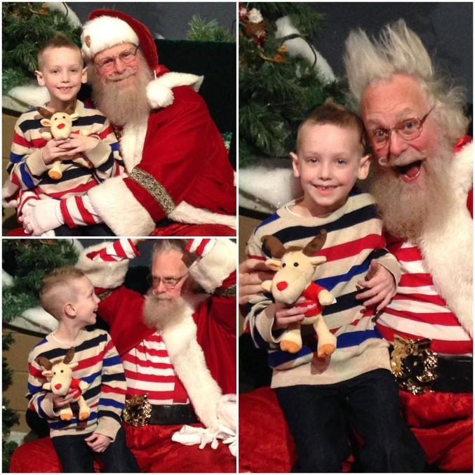 """""""Quand je suis allé sur les genoux du Père Noël, il a un truc qui devenu tout raide !"""""""