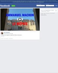 """Macron dans """"le mépris"""""""