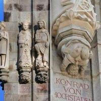 Support de la statue de l'évêque Konrad Von Hochstaden à la cathédrale de Cologne