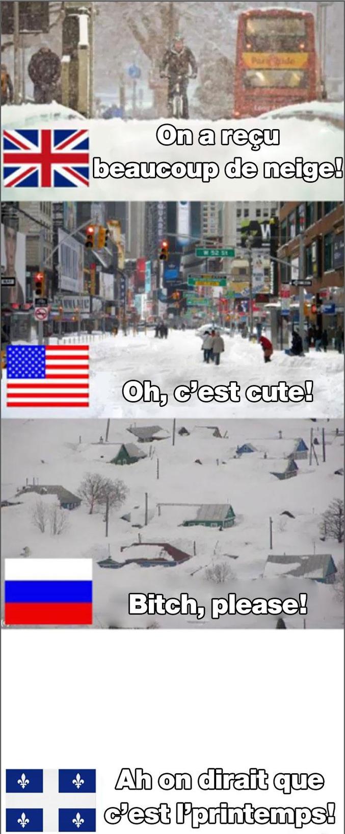 En Angleterre, aux États-Unis d'Amérique, en Russie et au Québec.