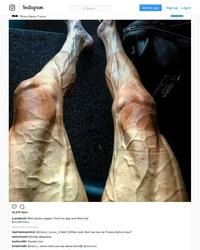 Jambes d'un coureur du Tour de France