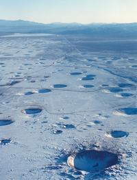 Après 800 essais nucléaires, de 1951 à 1992, le site primitif d'essais dans le Nevada