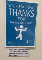 Votre corps vous remercie d'avoir emprunté les escaliers !