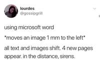Déplacer une image de 1 mm dans Word