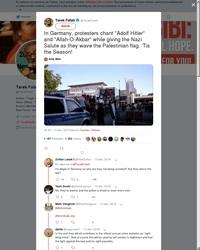 """En Allemagne, des pro-palestiniens scandent """"Adolf Hitler"""" et font le salut nazi"""