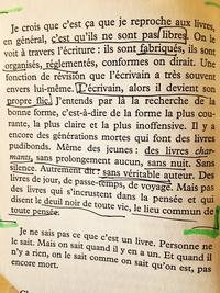 """Extrait d' """"Ecrire"""" de Marguerite Duras"""