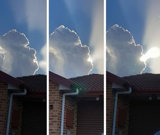 Un nuage dans le ciel.