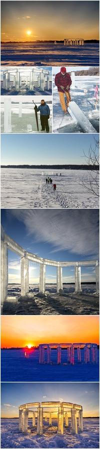 Icehenge : le Stone Henge de glace