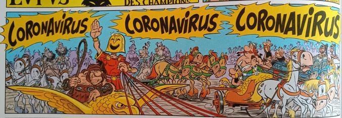 En ouvrant une DB d'Asterix (Astérix et la Transitalique) sur mon lieu de vacances...