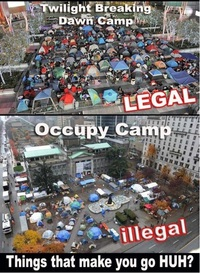 Fans de Twilight Fans vs Occupation de Wall Street