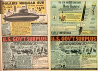 Surplus américains, publicités dans les années 50