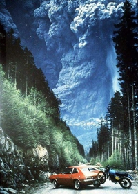 Eruption du mont St Helens (état de Washington) en 1980