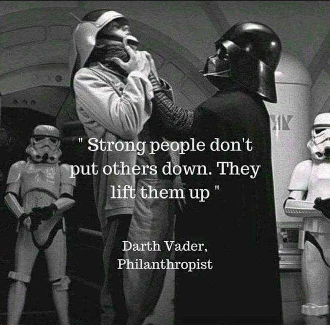 Dark Vador, philanthrope