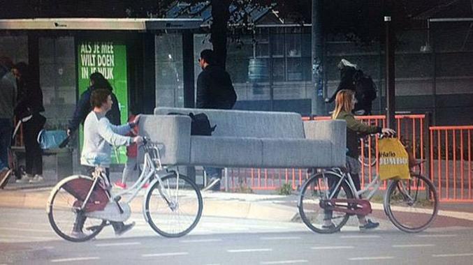 C'est costaud un vélo.