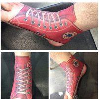 Chaussures tatouées