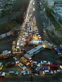 Léger embouteillage