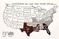 Le nombre de lynchages de noirs aux USA de 1909 à 1918