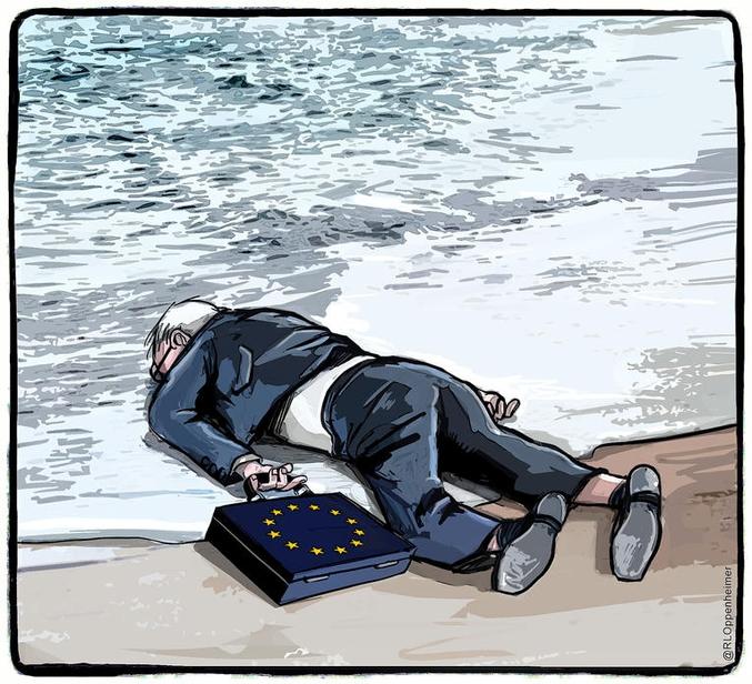 Le corps du petit Aylan Kurdi, enfant syrien de 3 ans, a été retrouvé hier sur la plage de Bodrum en Turquie. Sa famille tentait de se rendre sur l'île de Kos, en Grèce, pour fuir les tueries syriennes, quand leur embarcation a chaviré. Ici, le regard de Ruben L. Oppenheimer sur cette photo, largement publiée ce matin dans les journaux européens et qui fera assurément date dans l'histoire de l'Humanité.