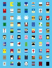 Personnages de jeux vidéo minimalistes