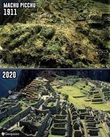 Débroussaillage au Machu Picchu 1911-2020