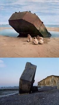 Eté 1947, les plages normandes 3 ans après le débarquement