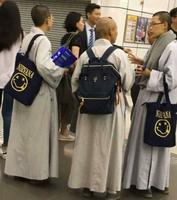 Moines bouddhistes ayant trouvé le Nirvana