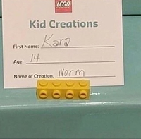 Un lombric en LEGO