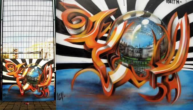 ... pichações são tridimensionais. (... les graffiti sont en 3 dimensions : pour ceux/celles qui ne parlent pas la langue de Ronaldo)   Il s'agit d'une œuvre de Sergio Odeith  https://www.flickr.com/photos/odeith/