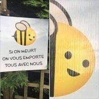 Une abeille préventive