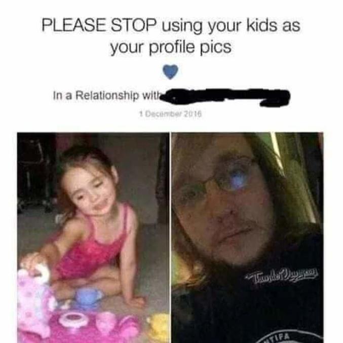 SVP ARRETEZ d'utiliser vos enfants comme photo de profil En relation avec..
