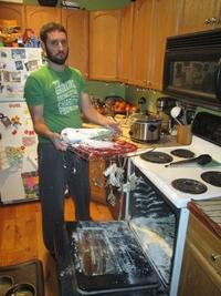 Aujourd'hui c'est papa qui cuisine