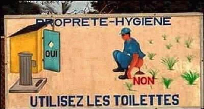 Pour respecter l'hygiène de tout un chacun merci d'utiliser les toilettes.